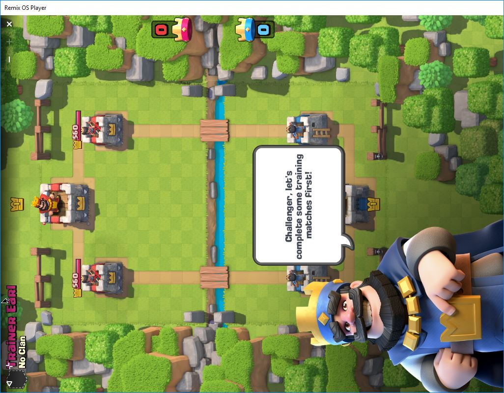 Playing Clash Royale