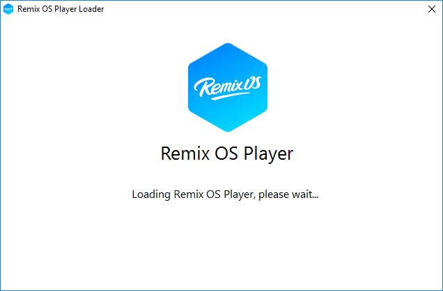 Remix OS Player is starting